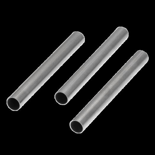 Edelstahl Röhrchen (30 x 3 mm) Altsilber (20 Stück)