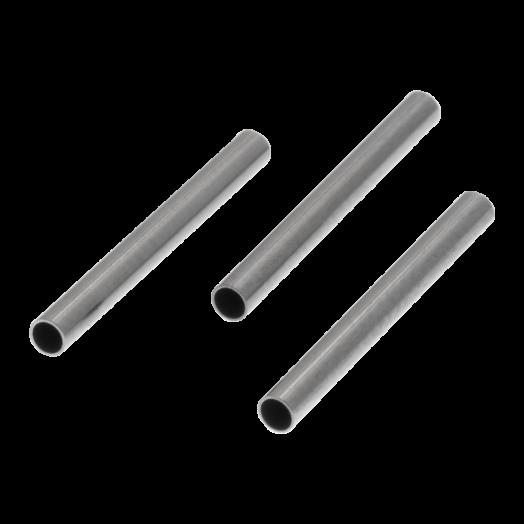 Edelstahl Röhrchen (15 x 1.5 mm) Altsilber (25 Stück)