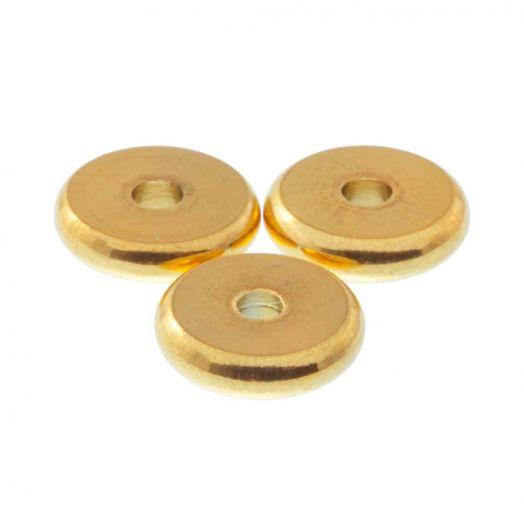 Edelstahl Perlen (8 mm) Gold (10 Stück)