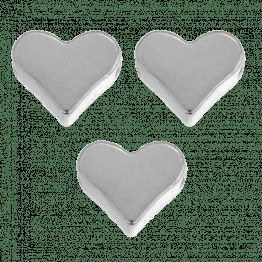 Metallperlen Heart (6 mm) Altsilber (40 Stück)
