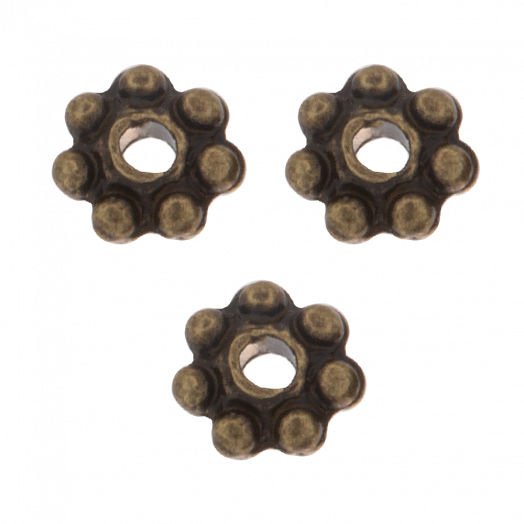 Metallperlen (4 mm) Bronze (40 Stück)