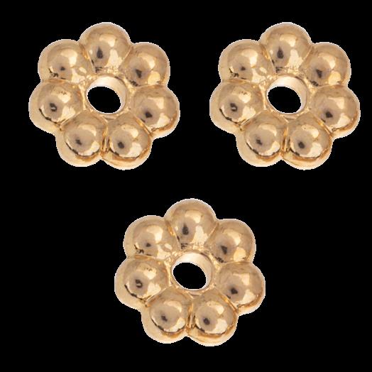 Metallperlen (6 mm) Gold (40 Stück)
