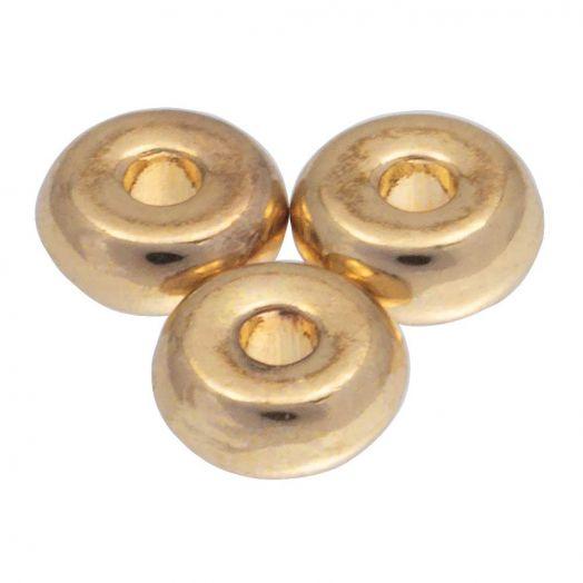 Metallperlen (6 mm) Gold (38 Stück)