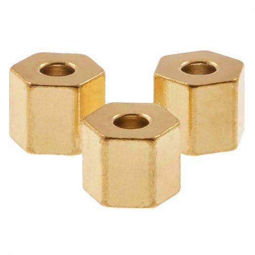 Edelstahl Perlen (4.5 x 4 mm) Gold (10 Stück)