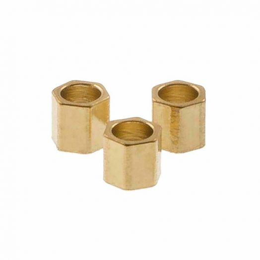 Edelstahl Perlen (2 x 2 mm) Gold (10 Stück)
