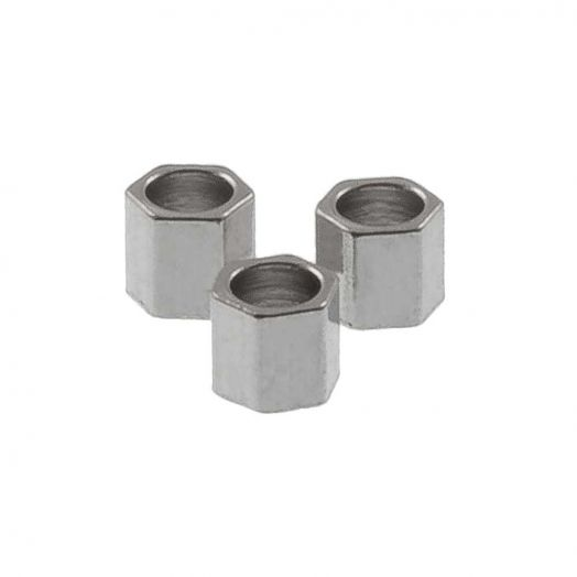 Edelstahl Perlen (2 x 2 mm) Altsilber (25 Stück)