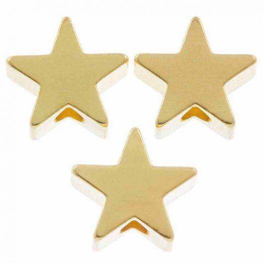 Metallperlen (8 mm) Gold (10 Stück)
