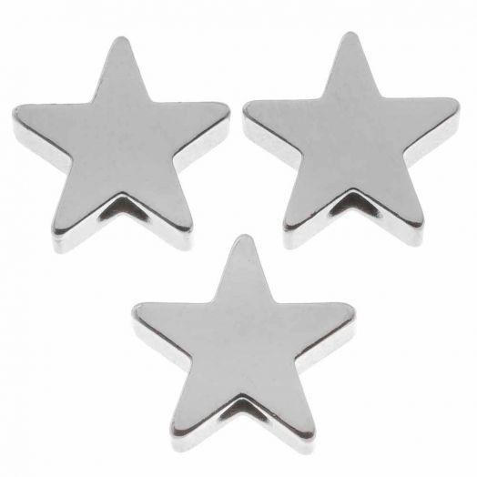 Metallperlen (8 mm) Altsilber (10 Stück)