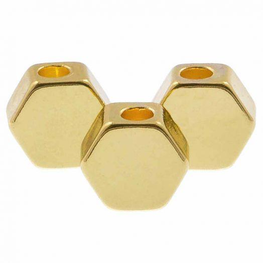Metallperlen (5 x 3 mm) Gold (10 Stück)