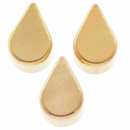 Metallperlen (6 x 4 mm) Gold (10 Stück)