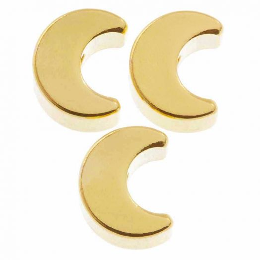 Metallperlen (7 x 3.5 mm) Gold (10 Stück)