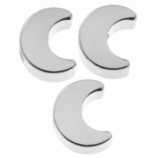 Metallperlen (7 x 3.5 mm) Altsilber (10 Stück)