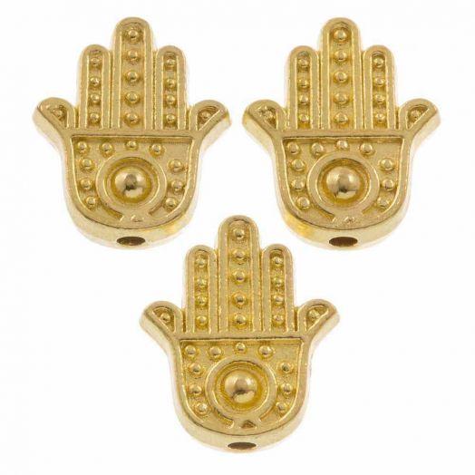 Metallperlen (12 x 10 mm) Gold (10 Stück)
