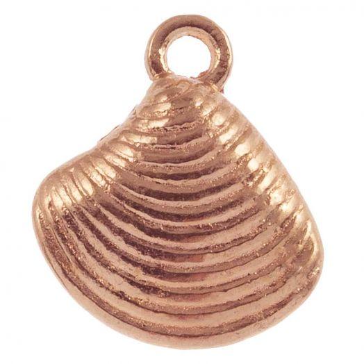 Charm Muschel (14 x 13 mm) Rose Gold (25 Stück)