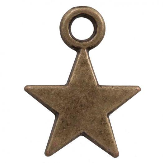 Charm Stern (12 x 9 mm) Bronze (25 Stück)