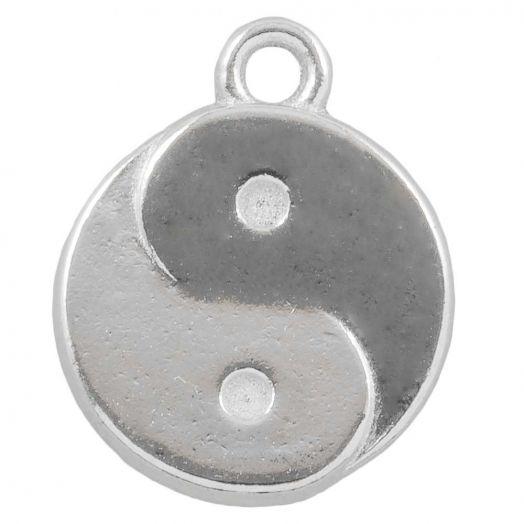 Charm Ying Yang (17 x 13 mm) Altsilber (25 Stück)