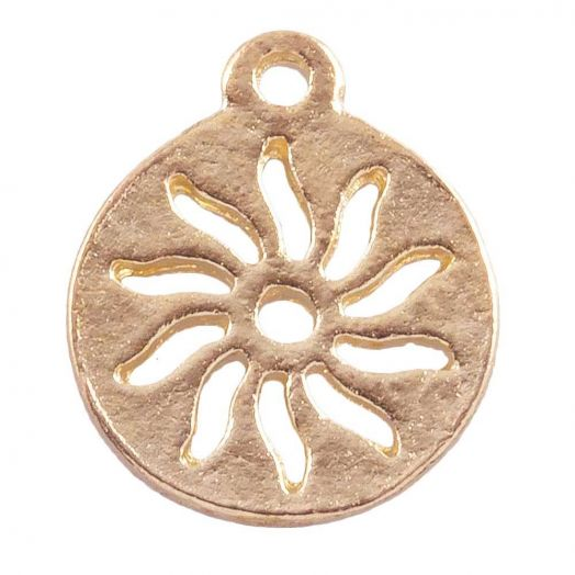 Charm Sonne (12 mm) Gold (25 Stück)