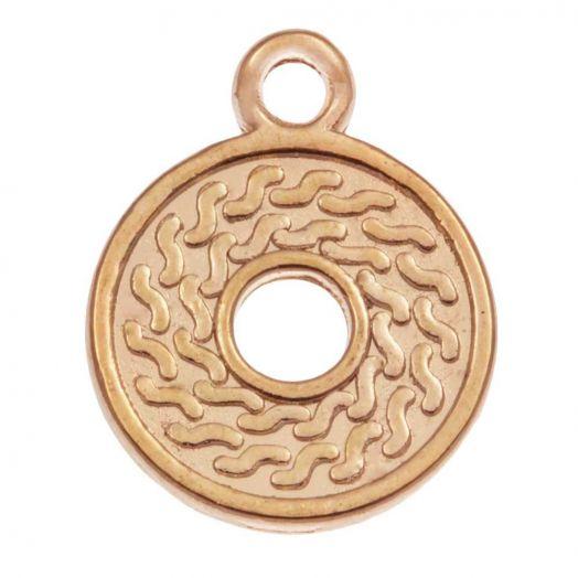 Charm (16 x 14 mm) Gold (25 Stück)