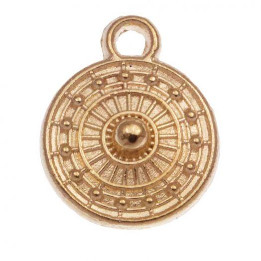 Charm (9 x 11 mm) Gold (25 Stück)