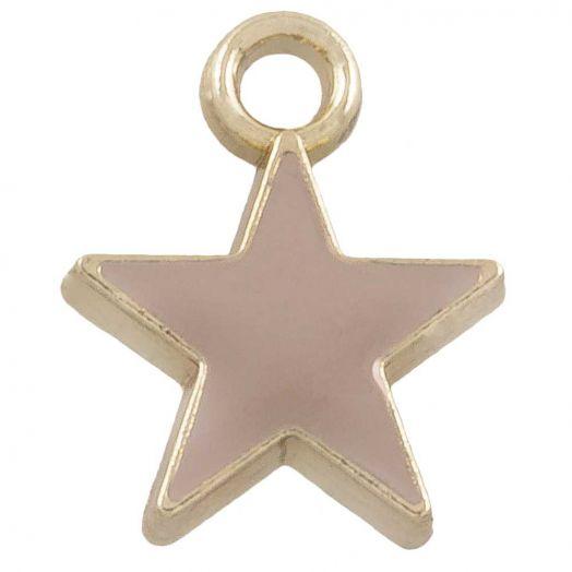 Charm Emaille Stern (12 x 9 mm) Brown (10 Stück)