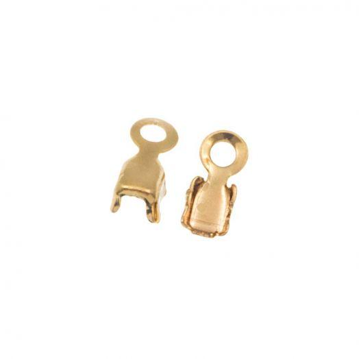 Strasskette Klammer (2.4 mm) Gold (20 Stück)
