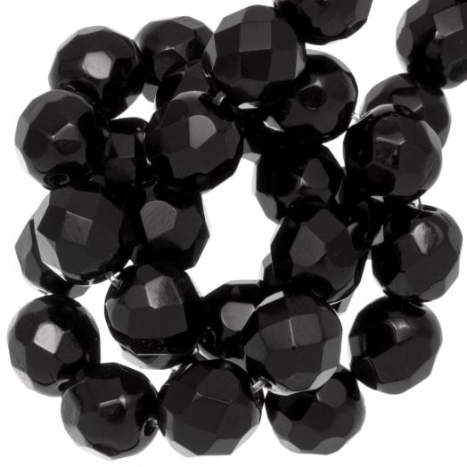DQ Facetperlen (8 mm) Black (50 Stück)