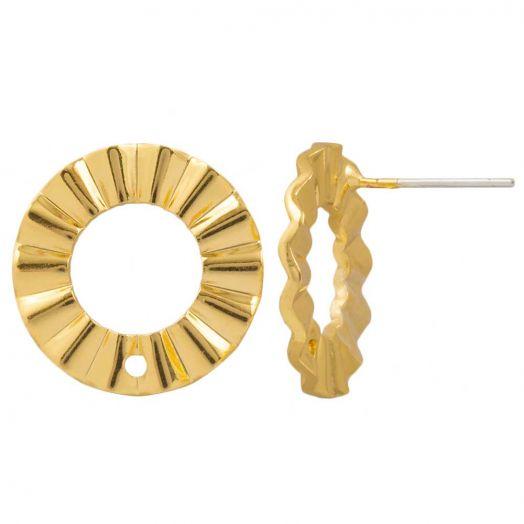 Ohrstecker (17 mm) Vergoldet (4 Stück)