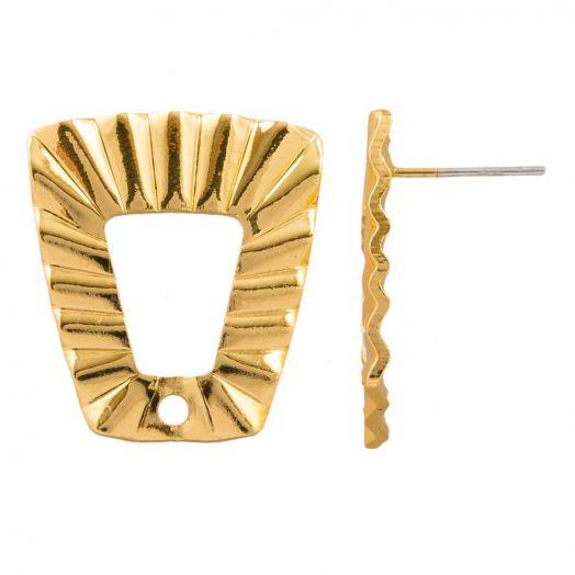 Ohrstecker (21 x 19 mm) Vergoldet (4 Stück)
