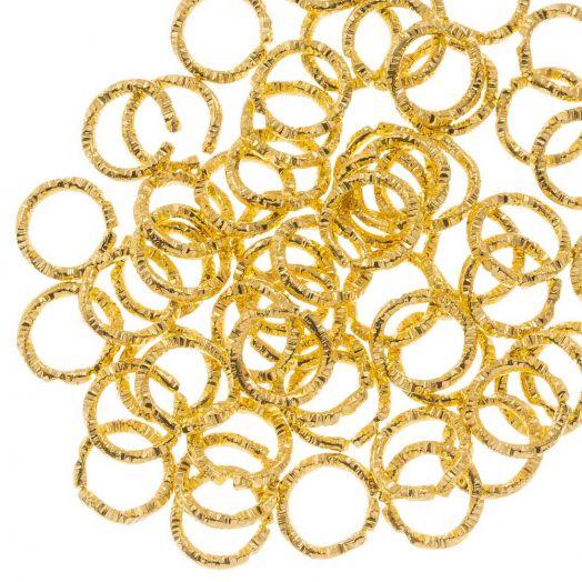 Biegeringe (6 mm Dicke 1 mm) Gold (100 Stück)