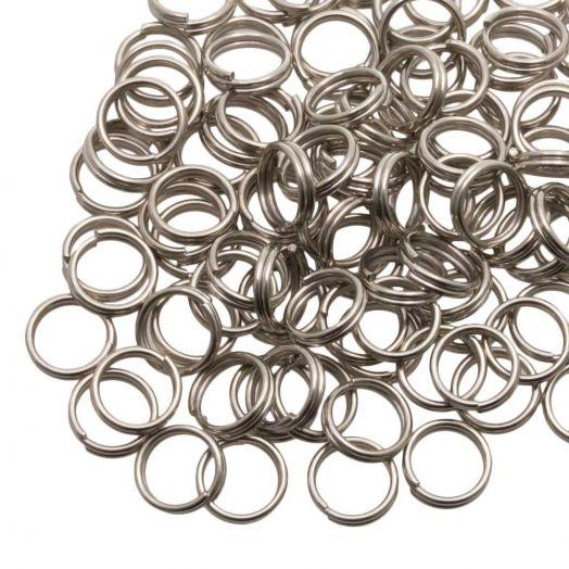 Spaltringe (5 x 1.2 mm) Altsilber (100 Stück)