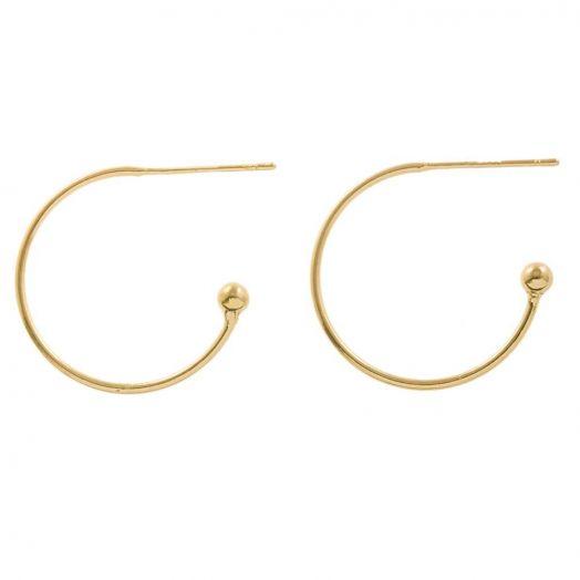 Ohrringe (20 x 20 mm) Gold (4 Stück)