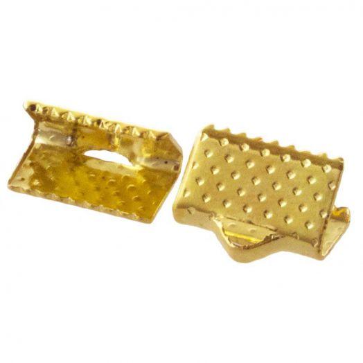 Bandklemme (10 mm) Gold (25 Stück)