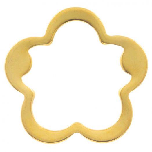 Edelstahl Geschlossener Ringe (21.5 mm, Innenmaß 17 mm) Gold (5 Stück)