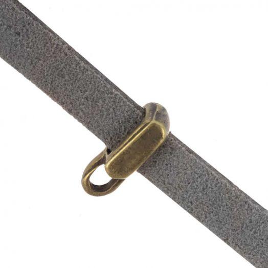 Charmträger 1 Öse  (Innenmaß 5 x 2 mm) Bronze (10 Stück)