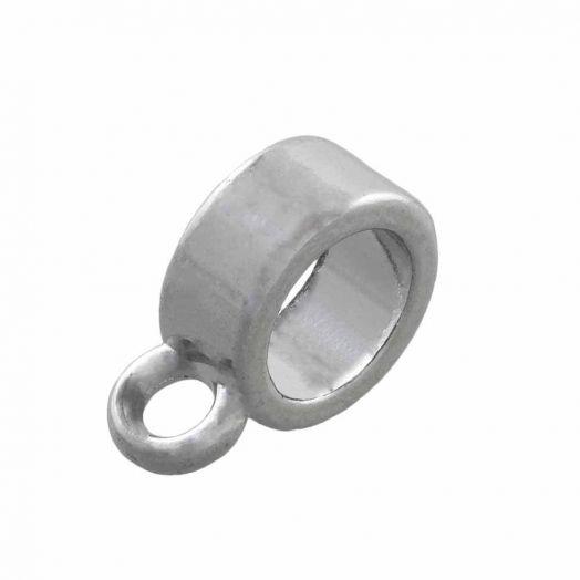 Charmträger (Innenmaß 4 mm) Altsilber (10 Stück)