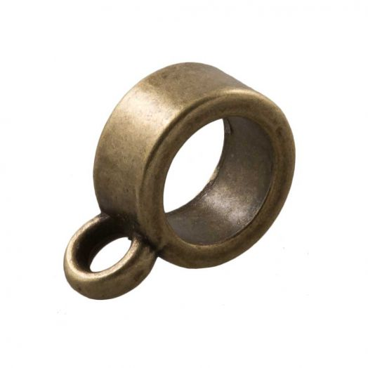 Charmträger (Innenmaß 6 mm) Bronze (10 Stück)