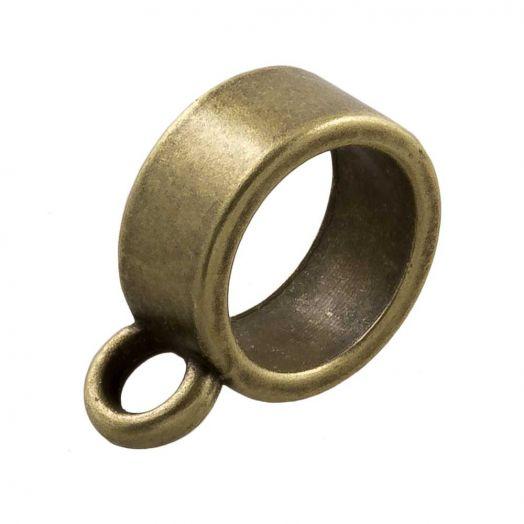 Charmträger (Innenmaß 8 mm) Bronze (10 Stück)
