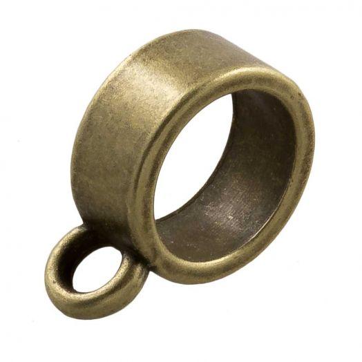 Charmträger (Innenmaß 9 mm) Bronze (10 Stück)