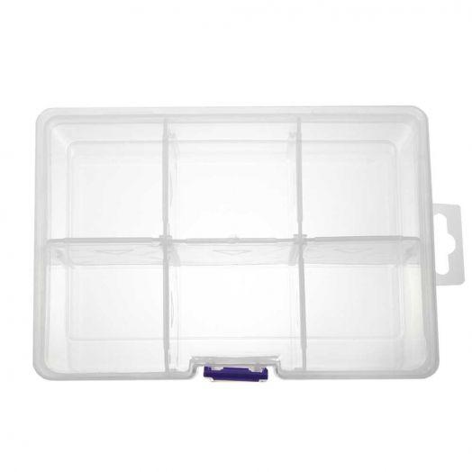 Aufbewahrungsbox mit 6 Fächern (transparent)