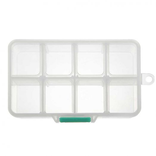 Aufbewahrungsbox mit 8 Fächern (transparent)