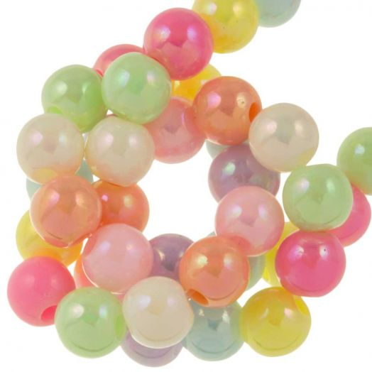 Acryl Perlen (6 mm) Mix AB Color (150 Stück)