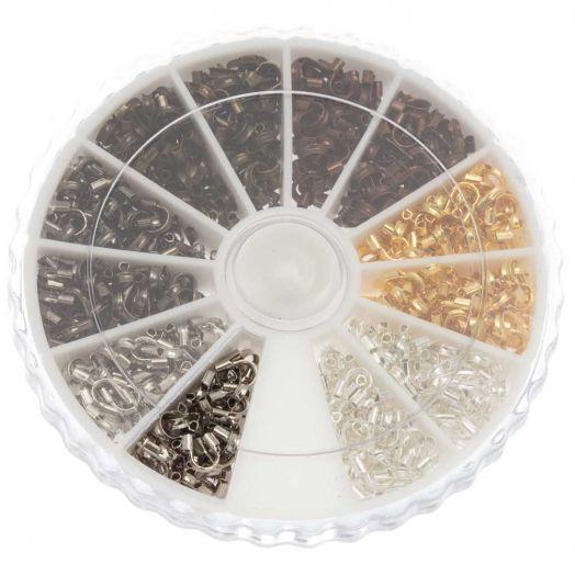 Sortierkasten - Drahtschutzbügel  (5 x 4 x 1 mm) Mix Color (540 Stück)