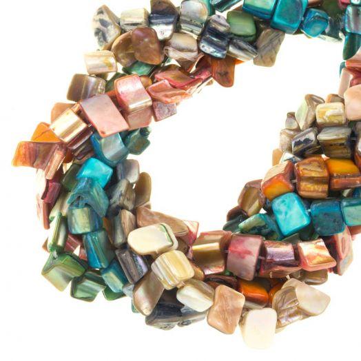 Perlenmischung - Muschelperlen (8 x 8 mm) Mix Color (235 Stück)