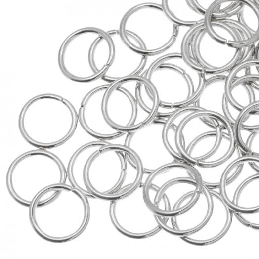 Biegeringe (10 mm Dicke 1.2 mm) Altsilber (100 Stück)