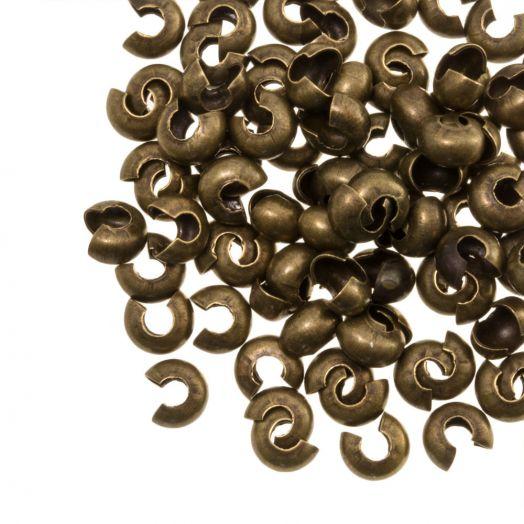 Kaschierperlen (4 mm) Bronze (25 Stück)