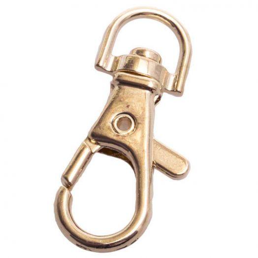 Schlüsselanhänger (32 x 11 mm) Gold (10 Stück)