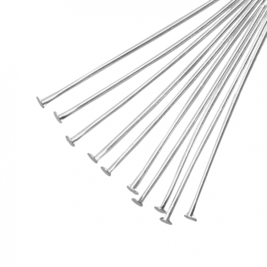 Nietstifte (35 mm Dicke 0.6 mm) Altsilber (100 Stück)