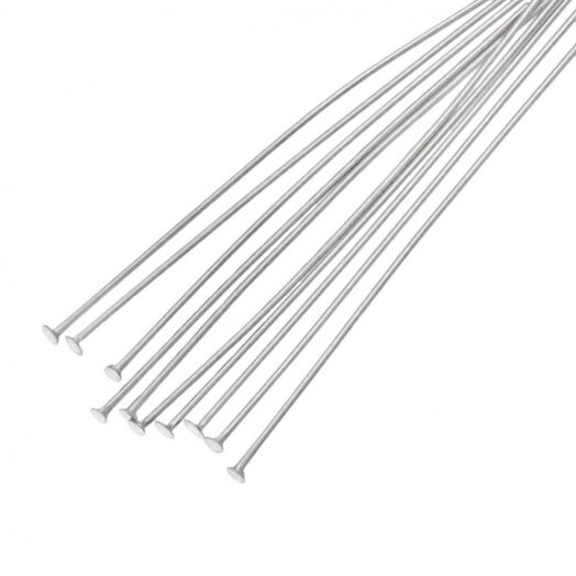 Edelstahl Nietstifte (50 mm Dicke 0.7 mm) Altsilber (100 Stück)
