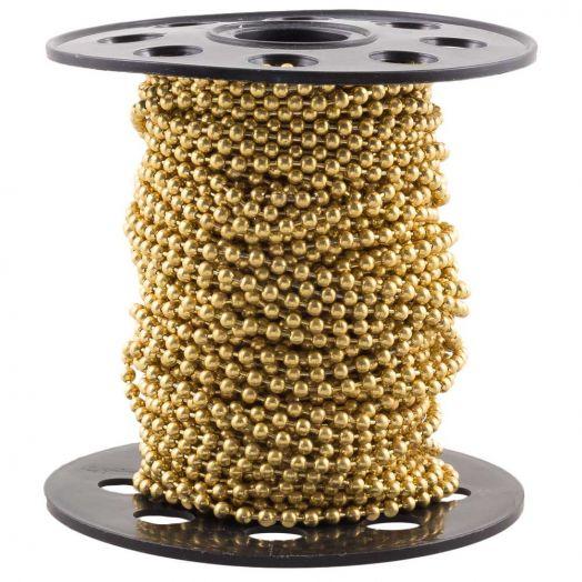Edelstahl Kugelkette (2 mm) Gold (20 Meter)
