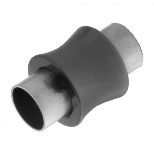 Edelstahl Magnetverschluss (Innenmaß 6 mm) Gunmetal (1 Stück)